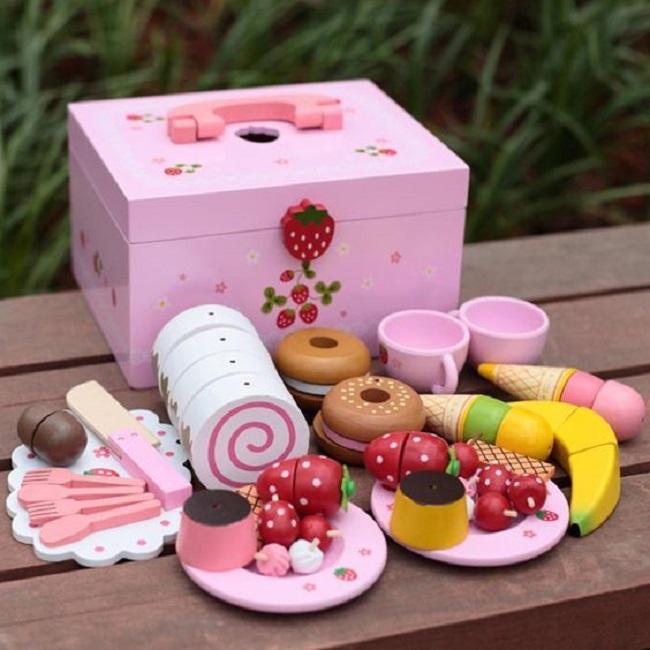 Stawberry Shortcake Wooden Tea & Cake Set (donated) photo