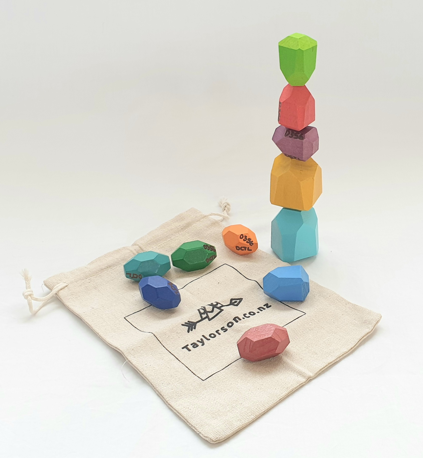 Taylerson Wooden Stacking Stones x11pc sponsored by Natalie Hales - Property Brokers photo